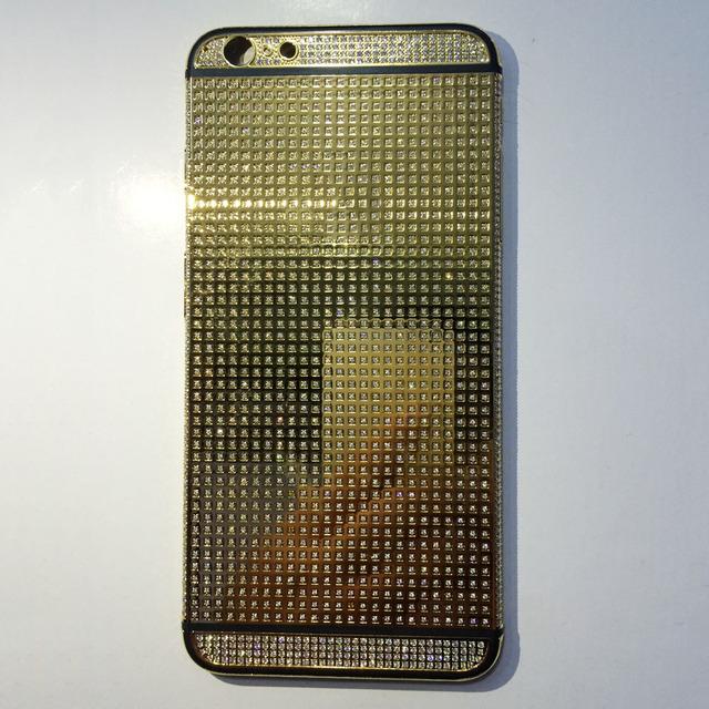 Limitada 24 K Cristal Plateado del Oro Cubierta Trasera Cubierta de La Batería diamante Marco para iphone 6 6 s 6 más 6 s más alta calidad nuevo