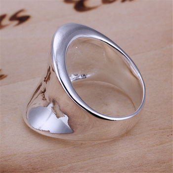 R52 Christmas gift free shipping wholesale Fashion Thumb smooth silver color ring high quality fashion classic Jewelry 2