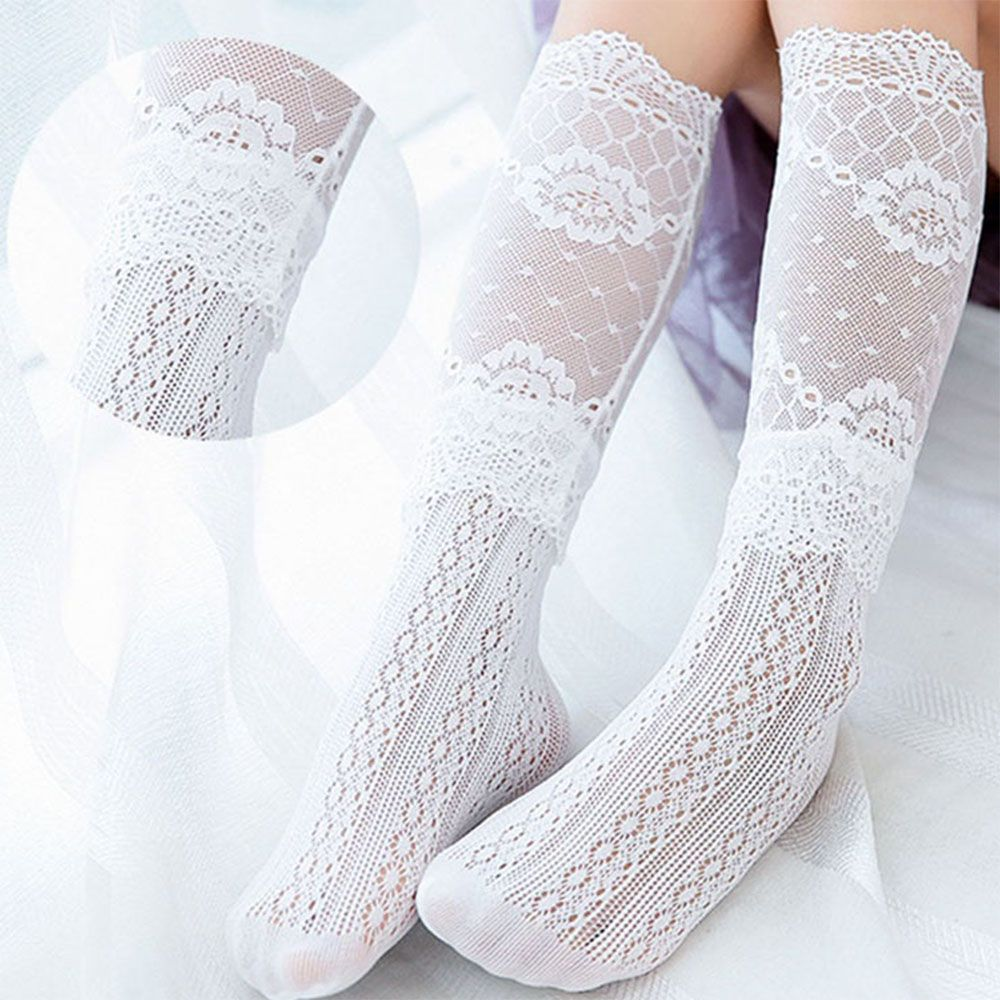 Stockings Gift Breathable Over Knee High Baby Tights Cotton Mesh Socks