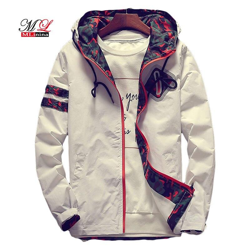 MLinina Women's Hooded Jackets 2018 White Floral Women Basic Jackets Flowers Windbreaker Coats Zipper Lightweight Jackets Famale