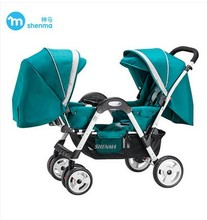 Twin stroller can sit face to face can lay multi functional portable double stroller baby cart