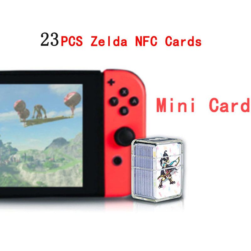 Compatible 23 NFC Game Cards For Amiibo Botw Mipha Link Switch Zelda Breath Of The Wild Super Mario Cart 8 Odyddey Splatoon 2