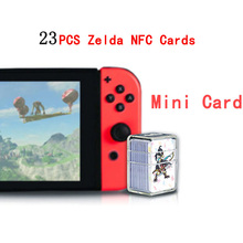 Compatible 23 NFC Game Cards For Amiibo Botw Mipha Link Switch Zelda Breath Of The Wild Super Mario Cart 8 Odyddey Splatoon 2 amiibo card for splatoon 2 ntag215 card nfc card whole set 13pcs lot