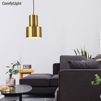 Gold Colour Pendant Light American Country Style Loft E27 Socket Cement Lamp Holder Indoor Decoration Led