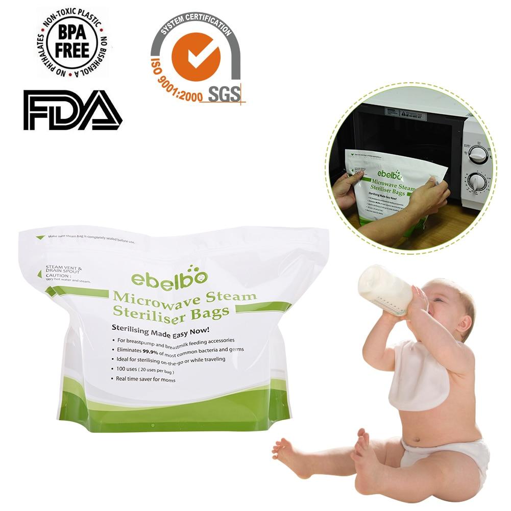 5 Pcs Lot Quick Microwave Oven Disinfection Steam Bag Baby Nursing Bottle Pouch Sterilization