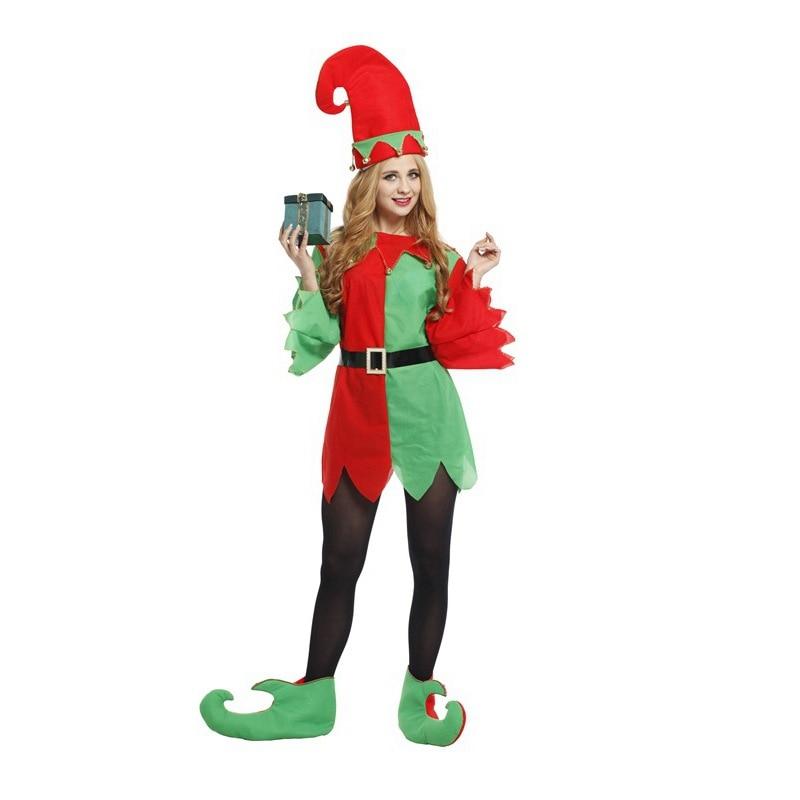 Women halloween cosplay costumes ladies dress christmas elf costumes