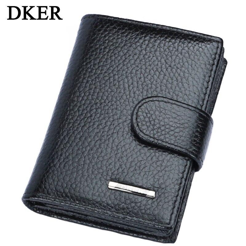 DKER Genuine Leather Men Card Holder Fashion Credit Card Holder Men ...