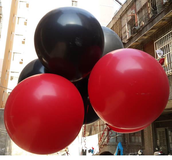 10Pcs Black Red Balloon Thicken Super Big Large Round -7992