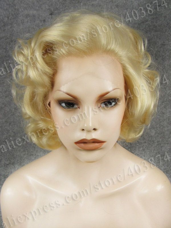 N24 613 Marilyn Monroe Hairstyle Blonde Color Synthetic Lace Front