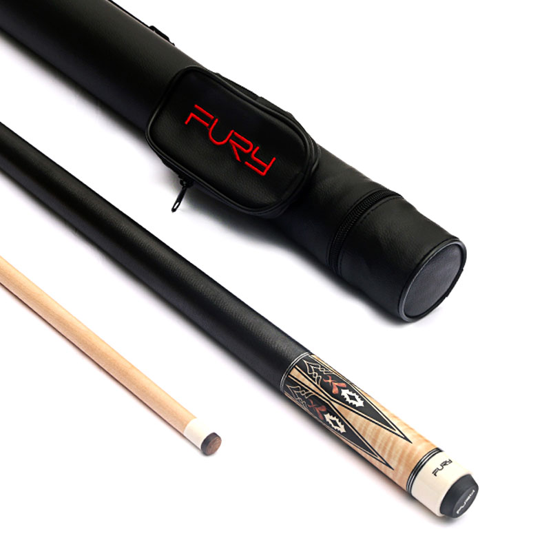 2019 New Fury Pool Cue Stick 11 75mm 12 75mm Tip with Pool Cue Case Protector