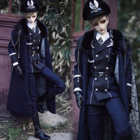 Accept custom Handmade Military Uniform Suit BJD Uncle 1/3 SD SD17 SSDF ID Doll Clothes
