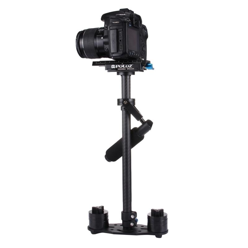 DHL Free YELANGU OEM S60T Max 2 5kg 60cm Carbon Fiber Handheld Stabilizer Steadicam for Camcorder