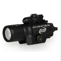 Promotional! BLK/Tan HIgh Quality SureFir X400 Tactical Flashlight + Red Laser for Outdoor Hunting Shooting Free Shipping
