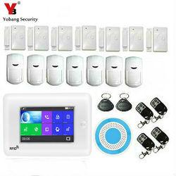 Nowy 4.3 cal Wifi GSM APP RFID bezprzewodowy system alarmowy do domu GSM system alarmowy klawiatura dotykowa 433 MHz drzwi na podczerwień czujnik alarmowy