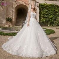 Отправка 3 м вуаль подарок! Waulizane А силуэт свадебное платье с коротким рукавом в пол свадебное платье со шлейфом средней длины