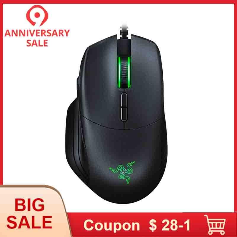 Razer Basilic Filaire Gaming Mouse 16000 DPI RGB 5G capteur optique Amovible DPI D'embrayage Défilement Résistance 8 Boutons pour Les Joueurs