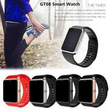 Timethinker GT08 Smart Watch Men Bluetooth Call Women Smartwatch Relogio 2G GSM SIM Card with Camera Wristwatch PK DZ09 A1 V8 X6 2pcs lq s1 battery for smart watch dz09 w8 a1 t8 x6 qw09 v8 x6 dj 09 battery lq s1 3 7v 380mah li po rechargeable battery cells