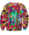 2015 Chegam Novas Hotline Miami Camisola Crewneck trippy Emoji Hoodies Mulheres/Homens Estilo Outono Inverno Hoodies Jumper