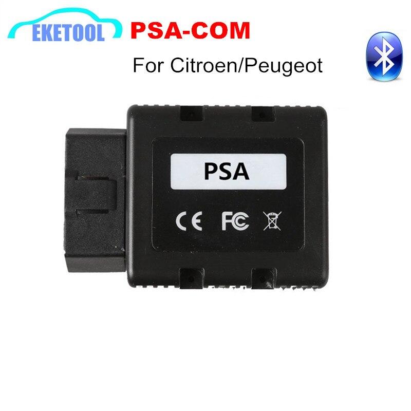 PSA-COM Bluetooth Interface OBD2 De Diagnostic et de Programmation Pour Citroen/Peugeot Remplacer de Lexia 3 PP2000 PSACOM PSA COM Code lecteur