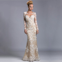 2016 Sexy Illusion See-through Formales Kleid Kleid Romantische Appliques Tulle Mermaid Lange Abendkleider 2016