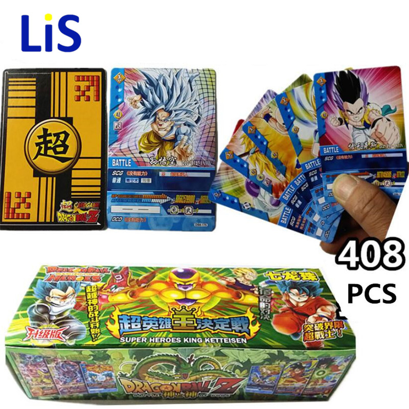408pcs/lot Dragon Ball Z Super Saiyan Goku Vegeta Freeza Collection Cards Dragon Ball Z Action Figure Cards Kid Gift Toy цены