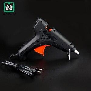 Image 2 - Il Trasporto Libero 100W Fai da Te Hot Melt Pistola di Colla Nero Spiedi Trigger Arte Artigianato Strumento di Riparazione con La Luce GG 5 110 v 240 V