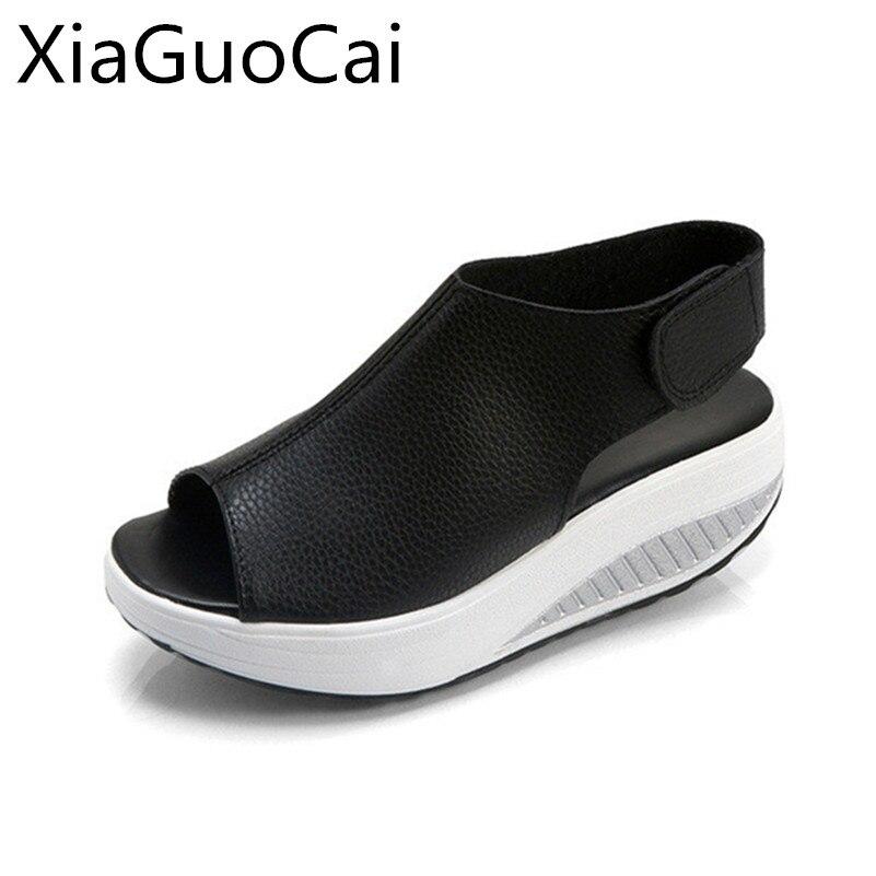 Plus Size New Arrival Fashion Women Sandals Hook & Loop Female Platform Sandals Wedges Shoes Big Size 35-43 Drop Shipping phyanic 2017 summer women sandals platform wedges sandals hook