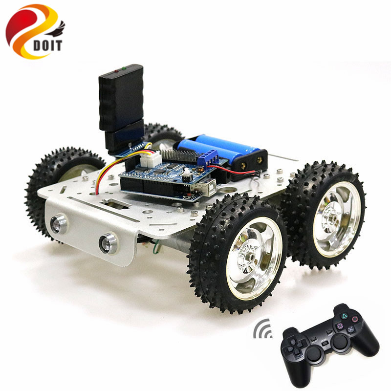 C300 Bluetooth/Handle/WiFi RC Control Robot Tank Chassis Car Kit with UNO R3 Development Board+ 4 Road Motor Driver Board DIY doit rc metal robot tank chaiss t300 wireless wifi car with esp8266 development board kit remote control page 4