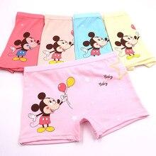 5 pcs/lot Childrens cotton kids boys underwear female cartoon printed baby girls boxer briefs panties child thong