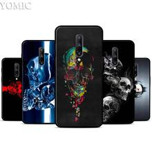 Horror Skull Silicone Case for Oneplus 7 7Pro 5T 6 6T Black Soft Case for Oneplus 7 7 Pro TPU Phone Cover