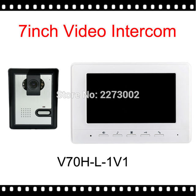 "V70H-L 7"" TFT Color Video Door Phone Intercom Doorbell System Kit IR Camera Doorphone monitor Speakerphone Video intercom System"