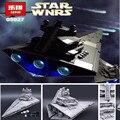 Nova LEPIN 05027 3250 Pcs Star Wars Imperador Lutadores Estrela Navio Kit modelo de Construção Tijolos Blocos Brinquedo Compatível com 10030 Presente Do Menino