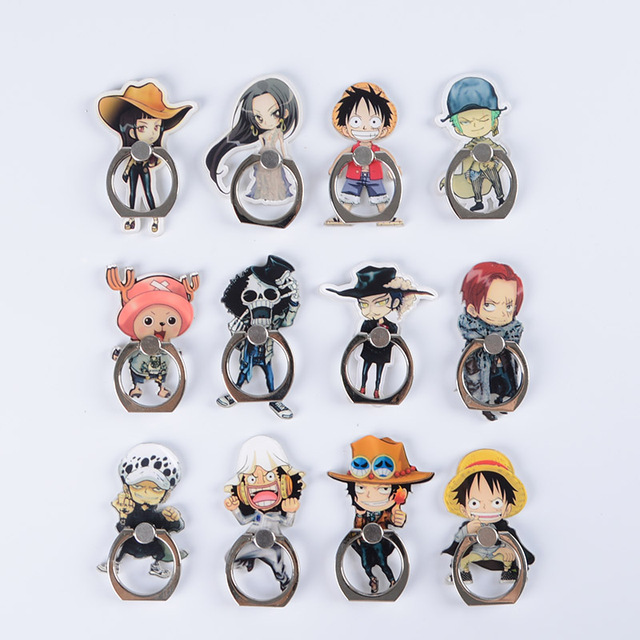 One Piece Smartphone Finger Ring Stand Holders