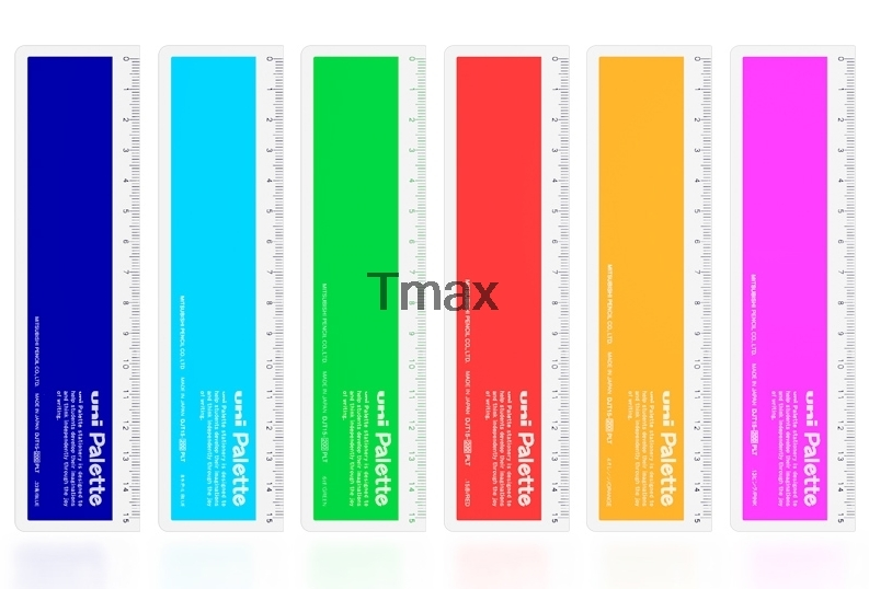 2 Pieces Mitsubishi Uni DJT15-200 Ruler 6 Color Selection Straight Ruler Drafting Supplies Office & School Supplies