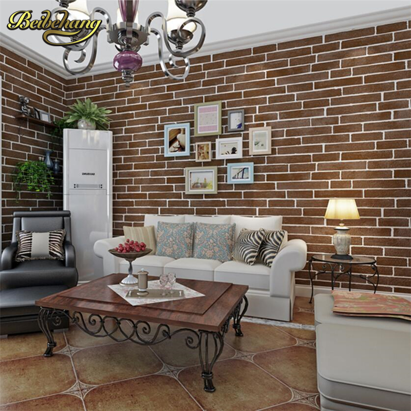 beibehang Simple Mediterranean Style Brick Pattern Non wovens Wallpaper Living Room Bedroom Restaurant TV Background Wallpaper beibehang blue brick mediterranean style