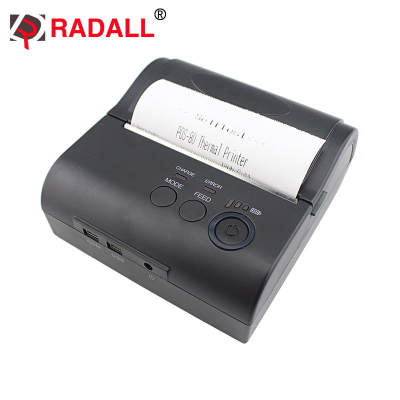 RD-80LYDD 80mm mini wireless bluetooth thermal printer receipt printer support Android for pos restaurant mht l58a bluetooth marketing device wireless wired pos thermal printer android tablet with rs232