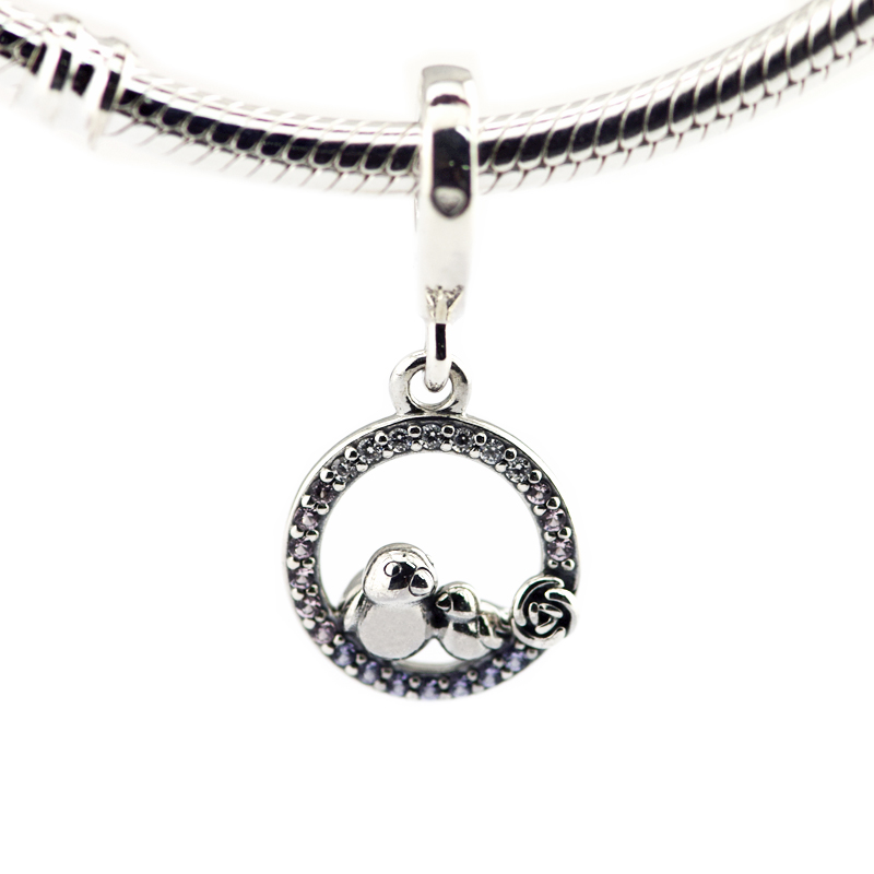 2018 Mother Day 925 Sterling Silver Mother & Baby Bird
