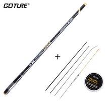 Goture 3.6-7.2M Telescopic Fishing Rod 2:8 Super Hard Light Weight Strong Stream Hand Pole Float Carp Rig Set