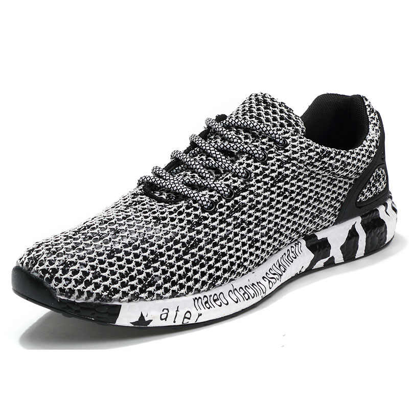 New Popular Style Men Running Shoes Air Mesh Lace-Up Athletic Shoes Outdoor Breathable Walkng jogging Sneakers yb-0805