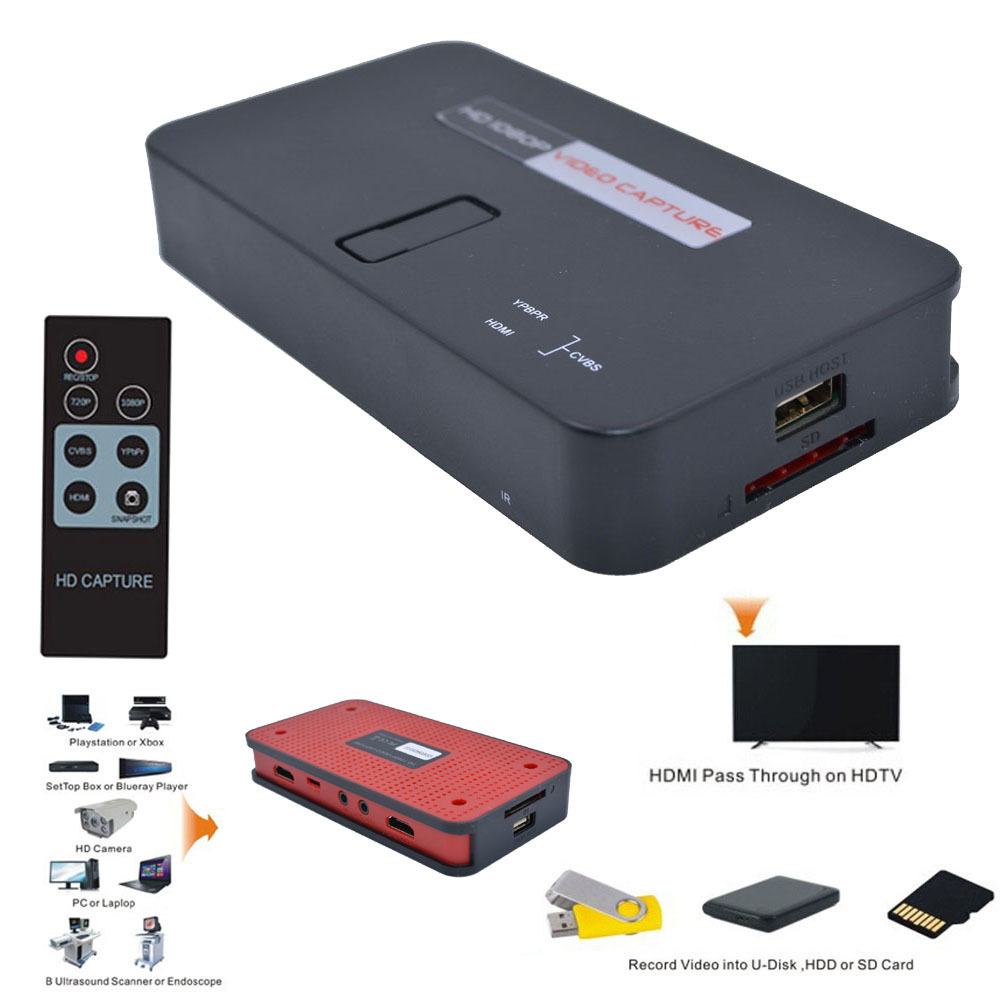 Ezcap284 1080 P HD boîte de Capture vidéo enregistreur de jeu de carte pour PlayStation Xbox Support vidéo en ligne flux en direct enregistrement en temps réel
