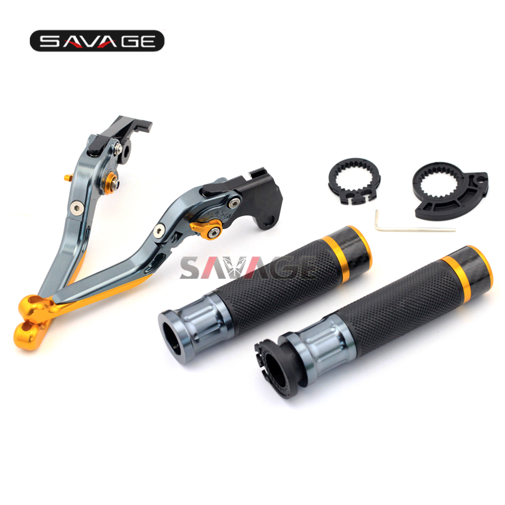 For KAWASAKI Z750 Z800 Versys1000 motorcycle clutch levers brake folding adjustable handlebar hand grips in Levers Ropes Cables from Automobiles Motorcycles