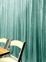 ShinyBeauty 20FT X 10FT Mint Green Luxury Sequin Drapes Big Size Shimmer Sequin Curtain/Backdrop/Background for Wedding Party