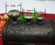 20Pcs25mm*20mm Small handle knob handles three types of antique drawer Pull handle single hole handle mushrooms