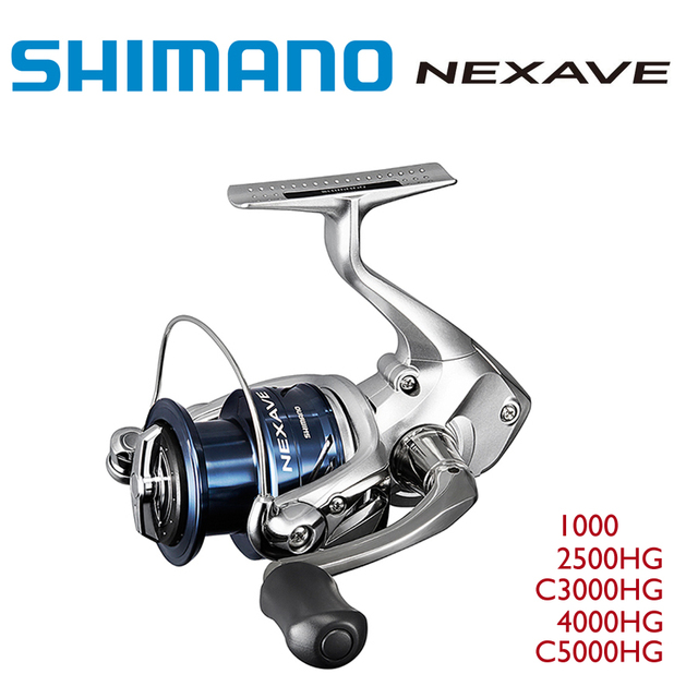 e5659b9a27f 100% Original 2017 New Shimano NEXAVE 1000 2500HG C3000HG 4000HG C5000HG Spinning  Fishing Reel 3BB+1 Made in Malaysia