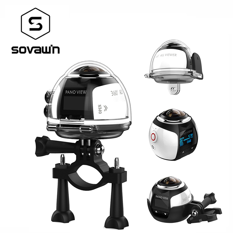 360 градусов Камера VR 4 K Wifi видео мини-панорамная 2448*2448 HD панорама действие 3D виртуальный realit-бесплатная Водонепроницаемый спортивные камера ...