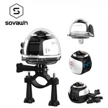 360 Градусов Камера VR 4 К Wi-Fi Видео Мини Панорамный 2448*2448 HD Панорама Действие 3D Virtual Реалит Водонепроницаемый спорт Вождение Cam