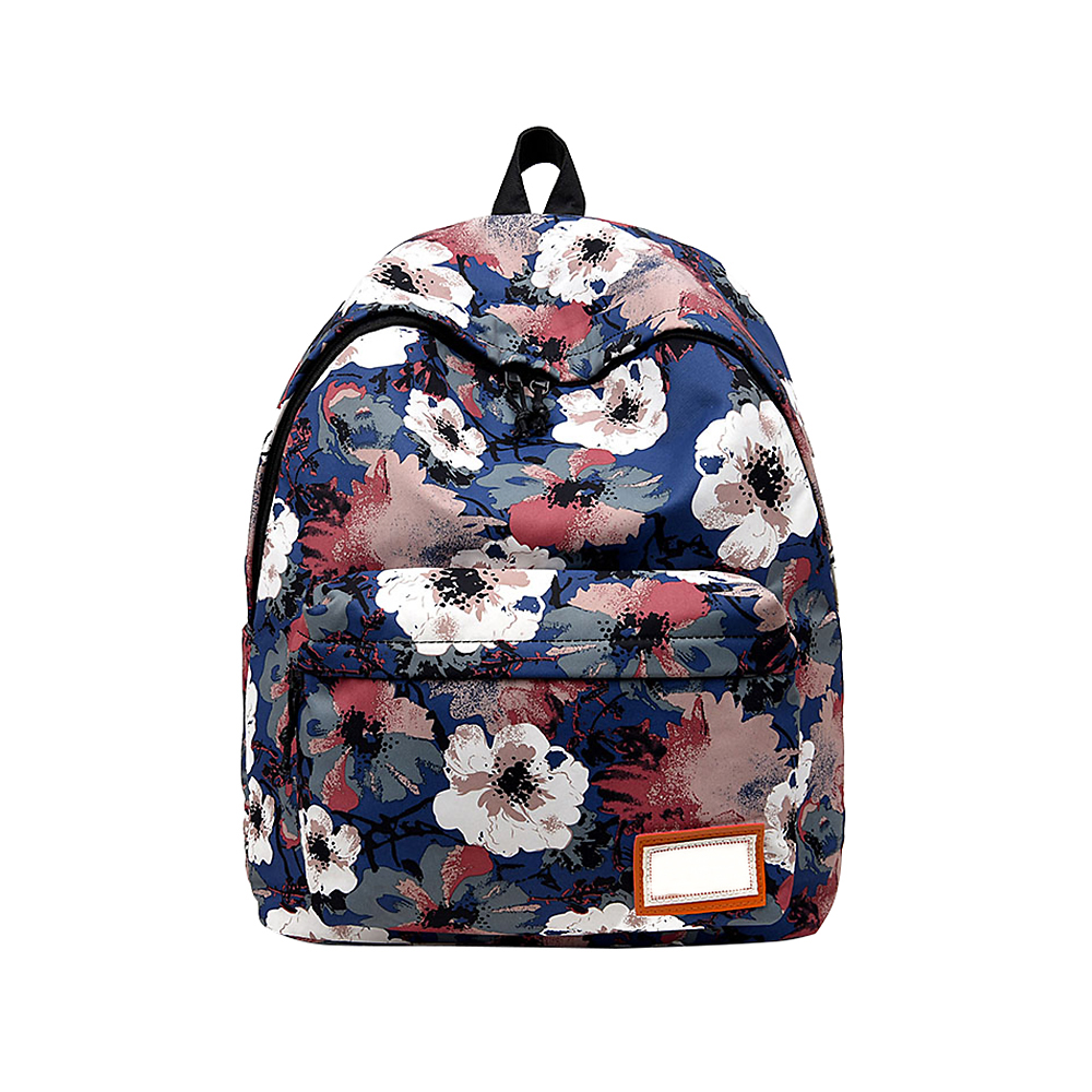 Flower Print Fashion Women Backpacks Zipper Design Floral Girls School Bag Large Capacity Female Ladies Back Pack