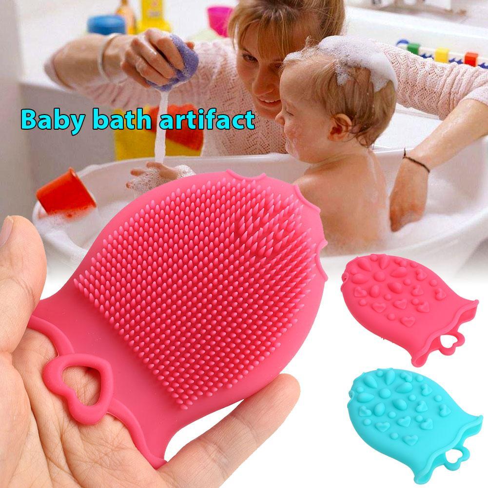 2018 Drop Shipping Toddler Bath Brush Soft Body Wash Infant Bath Brush Silicone Cute Home Baby Bath Brush Body Massage