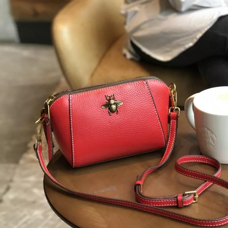 New Genuine Leather Shell Women Shoulder Bag Luxury Brand Bag Women Messenger bag Famous Designer Brand Women Crossbody bag xml pocket consultant