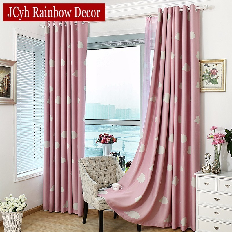 Cartoon children blackout curtains for kid 39 s room clouds - Childrens bedroom blackout curtains ...